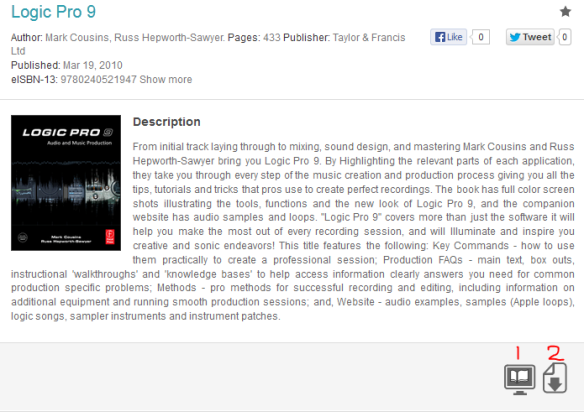 Screenshot showing e-book preview on DawsonEra