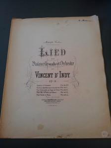 Lied pour Violoncelle et Orchestre par Vincent D'Indy, Op. 19