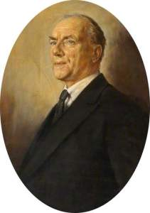 Charles Kennedy Scott, by unknown artist, owned by Trinity Laban