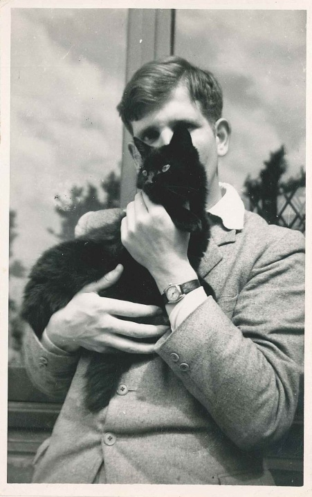 Christopher Wood with cat