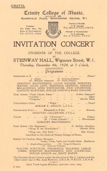 TCM prog 4 Dec 1924