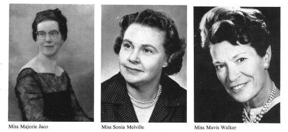 Women examiners 1968