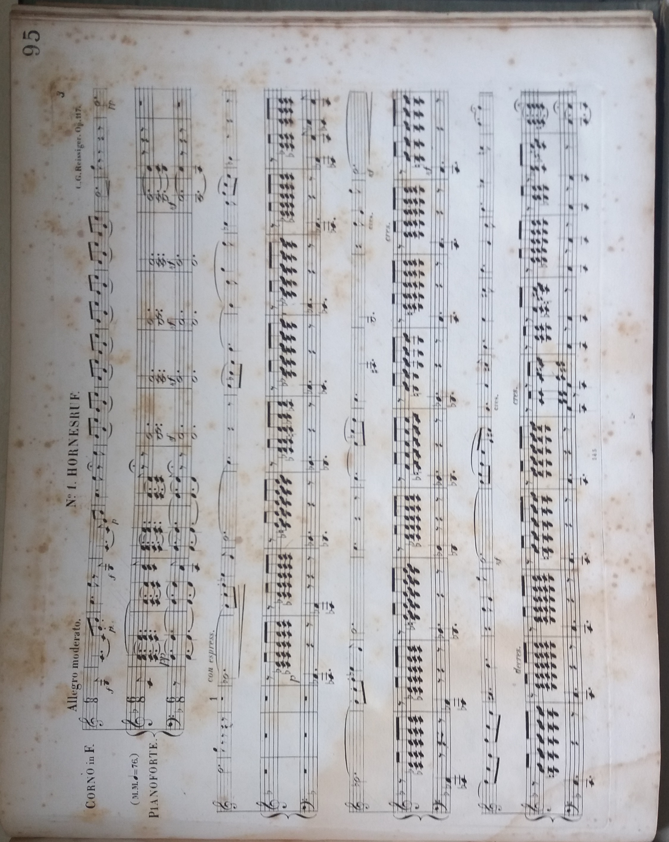 Manuscripts jerwood library of the performing arts carl reissigers vier gesnge for soprano horn and piano 7803 rei hexwebz Images