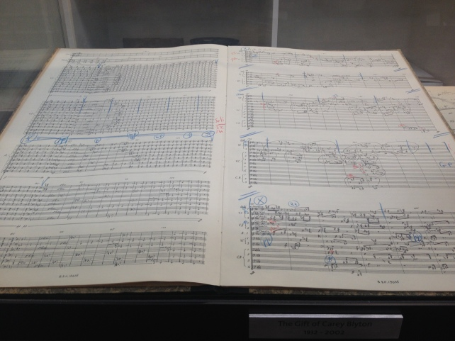 a photograph of Antonio de Almeida's copy of Xenakis' Metastasis