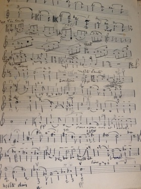 The original manuscript of Tertis' Viola arrangement of Delius' 2nd Violin Sonata