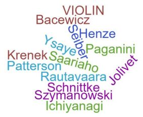 Violin wordcloud