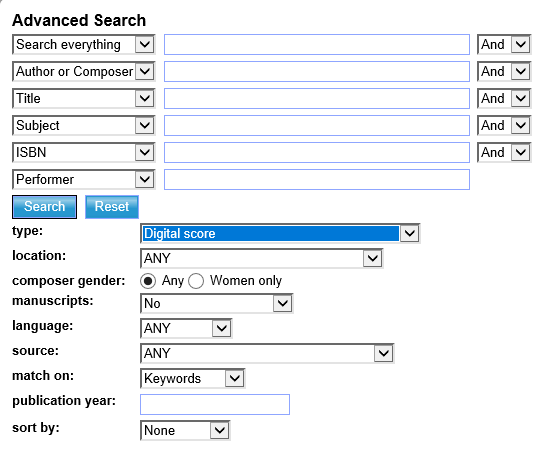 Digital score search
