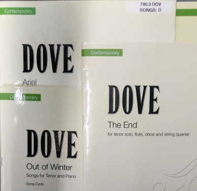 Three Dove scores: Ariel, Out of Winter and The End